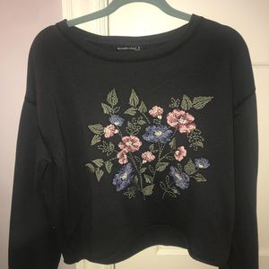 Abercrombie floral sweater